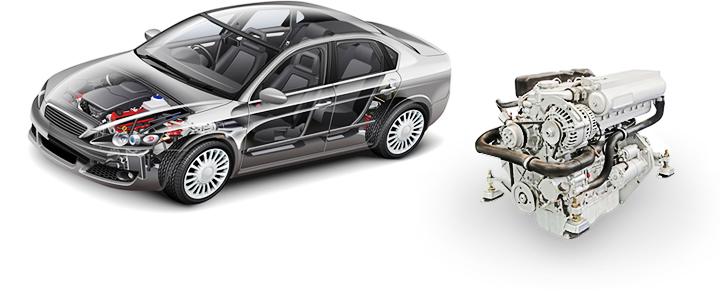 車とエンジン